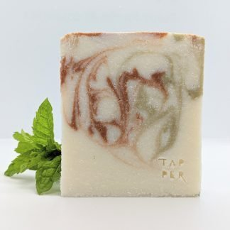 white cuboid bar with green and red swirls
